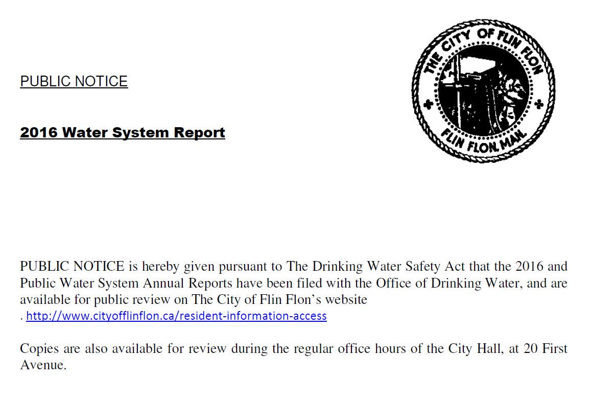 The City Of Flin Flon Notice Board Flin Flon Online