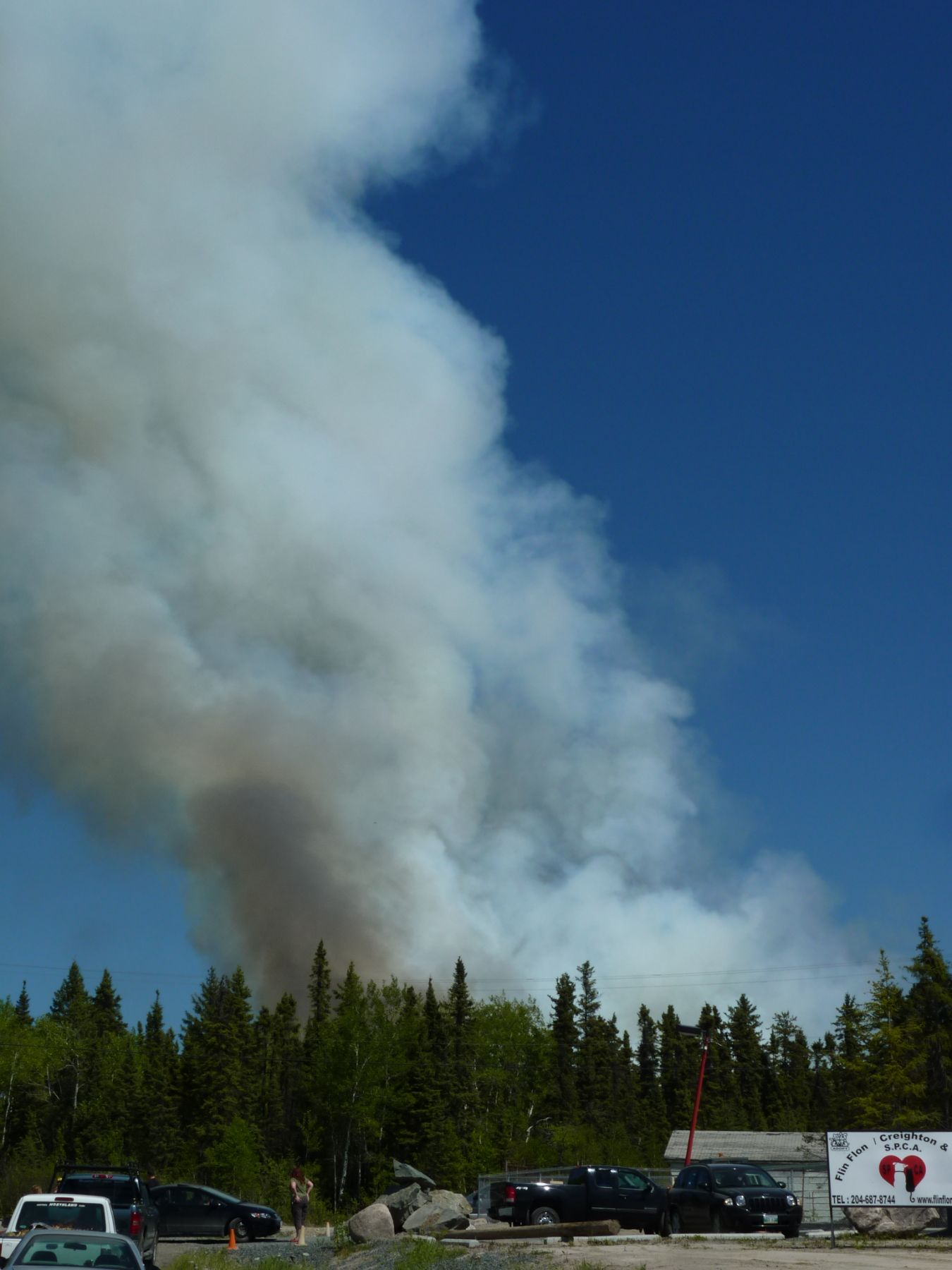 A Fire Is Burning Near Flin Flon